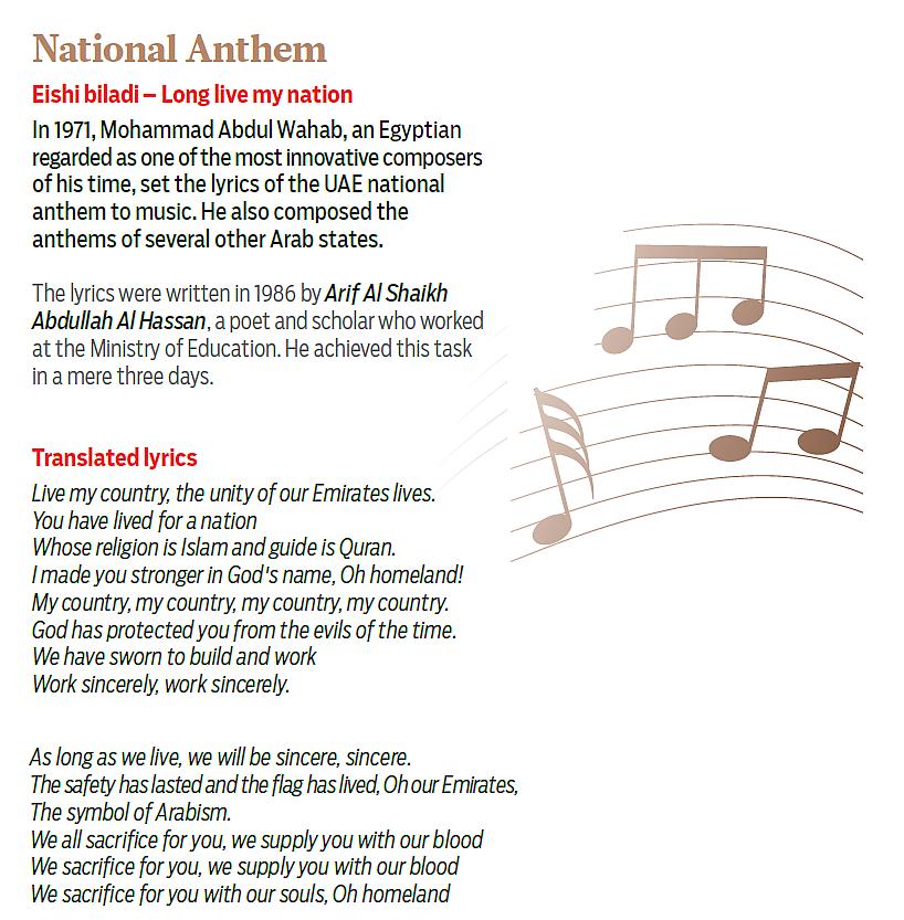 Lyric sincerely lyrics : Spirit of the Union: Know the national symbols of the UAE and ...